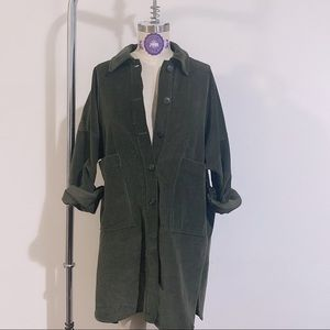 Zara Trf Oversize Corduroy Jacket | Coat